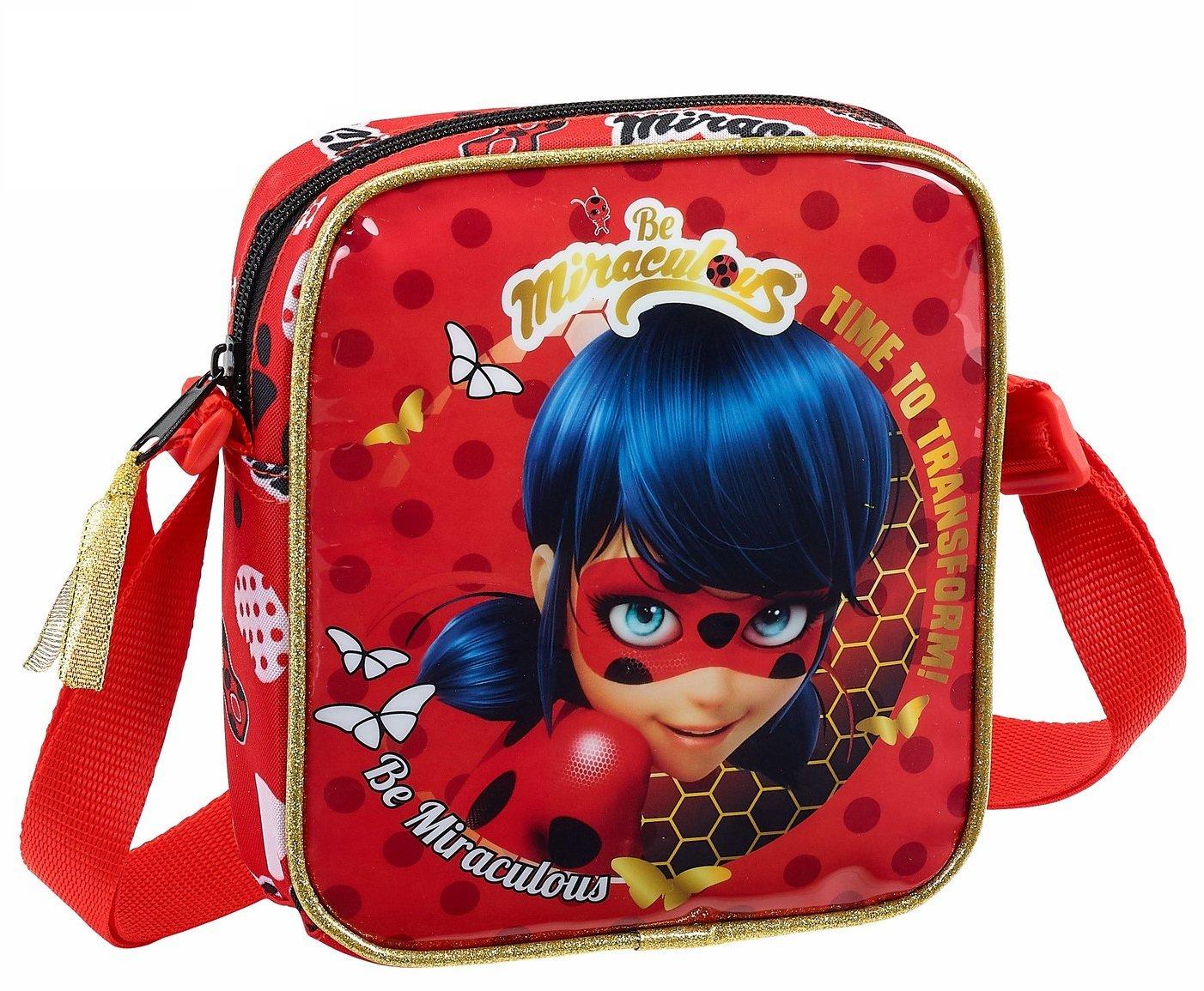 Safta Bandolera Ladybug 'Sparkle' Oficial Bandolera Pequeñ a 160x40x180mm 611802222