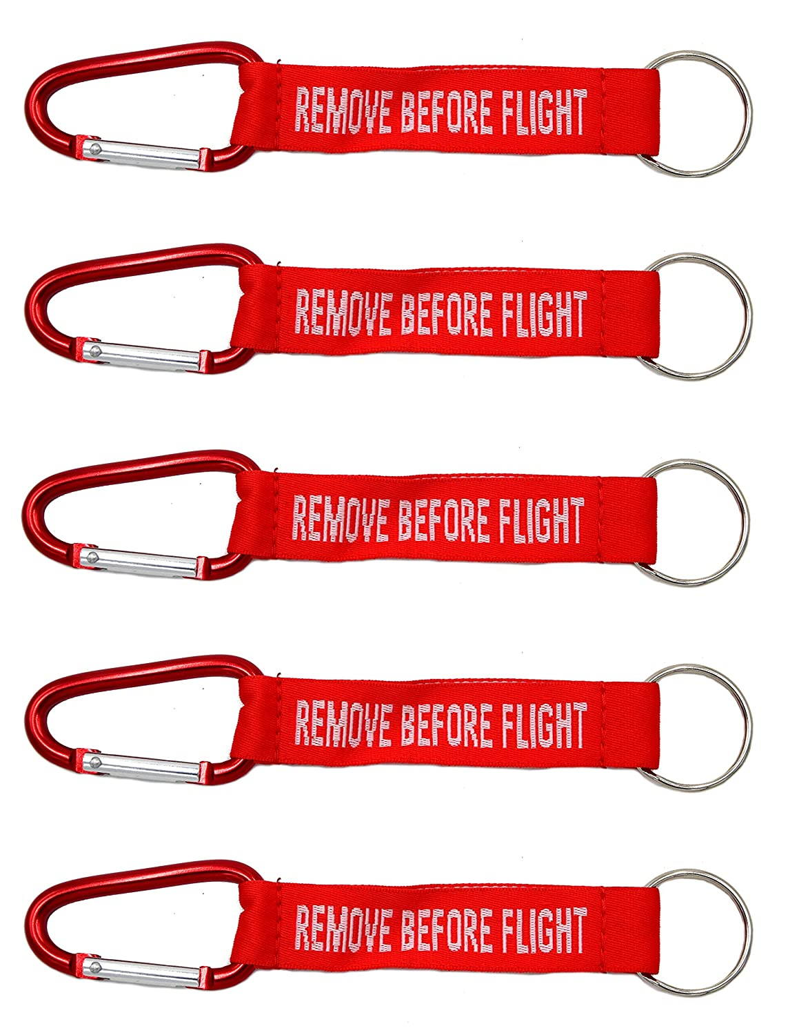 5 llavero REMOVE BEFORE FLIGHT con mosquetón: Amazon.es ...