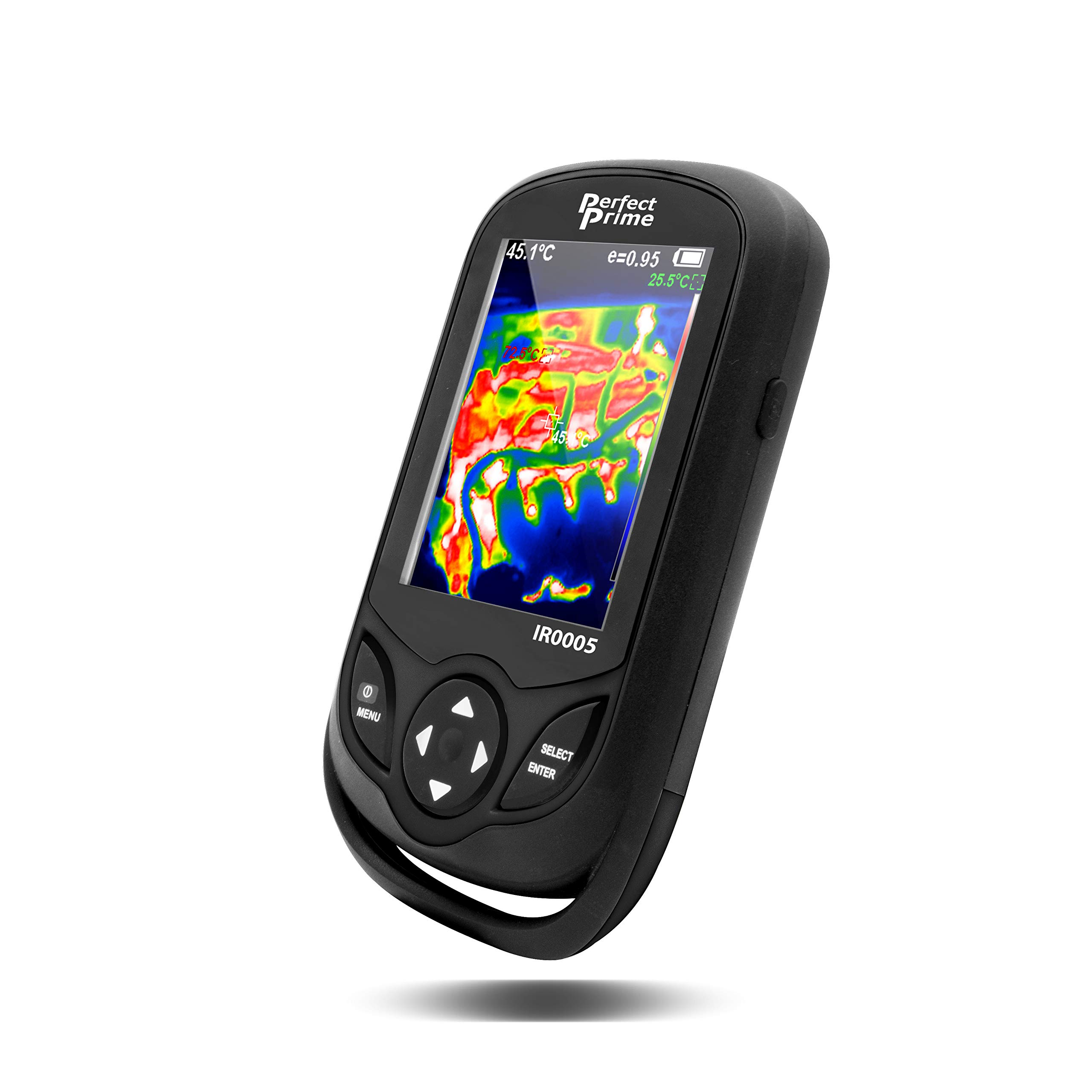 PerfectPrime IR0005, Infrared (IR) Thermal Imager & Visible Light Camera with IR Resolution 35,200 Pixels & Temperature Range from -4~572°F, 9 Hz Refresh Rate