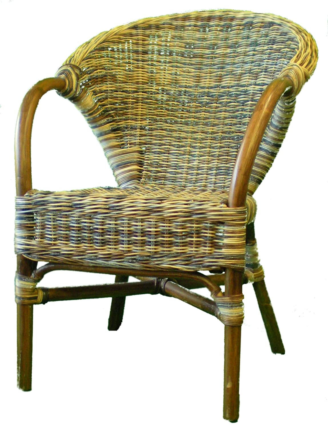 Mixed Colour Wicker Chair