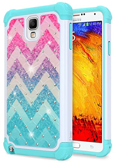 new concept 95f97 1d03e Galaxy Note 3 Case for Girls Women Kids, NageBee Glitter Diamond [Hybrid  Protective] Armor Soft Silicone Cover Studded Rhinestone Bling Sparkle Cute  ...