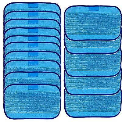 Chiffons De Nettoyage En Micro-Fibre Kangrunmy 15 Chiffons MouilléS Pour Irobot Braava 380 380T 320 Mint 4200 4205 Mopping Cloths