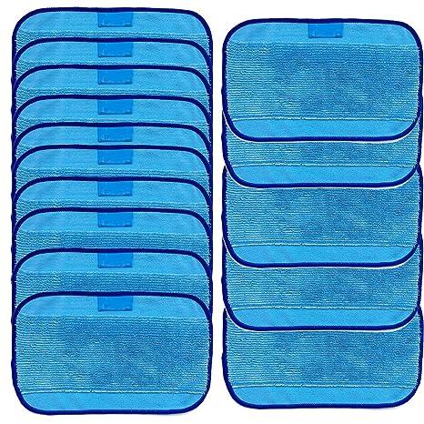 Rameng Lingettes Nettoyantes 15 Wet Chiffons de Nettoyage en Microfibre Pour iRobot Braava 380 380t 320