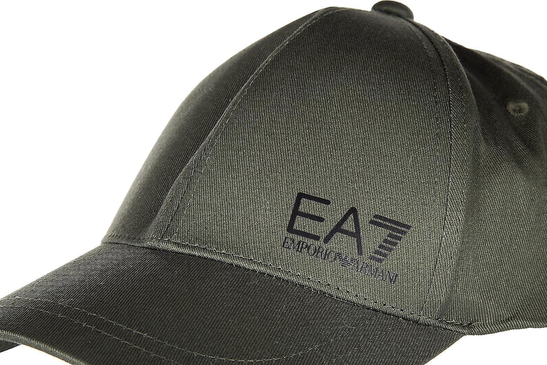 5a5ff1e961386c Emporio Armani EA7 adjustable men's cotton hat baseball cap train core  green: Amazon.co.uk: Clothing