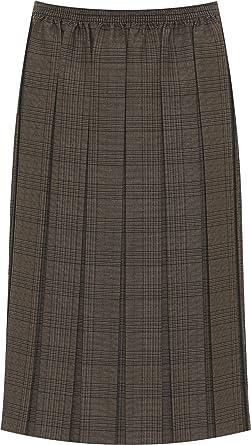 138ac60309 WearAll Women's Plus Stretch Elasticated Check Tartan Print Ladies Pleated  Midi Skirt 16-30: Amazon.co.uk: Clothing