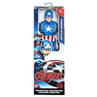 Hasbro Marvel Avengers-C0757ES0 Captain America Titan Hero (Personaggio 30cm, Action Figure), C0757ES0