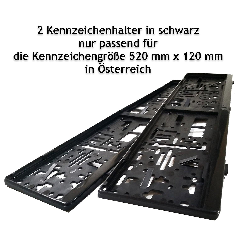 2 Kennzeichenhalter | Kennzeichenrahmen in schwarz passend nur für ...