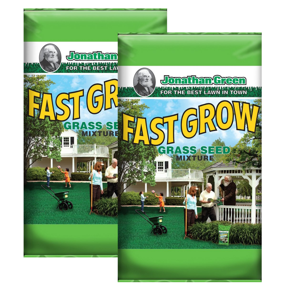 Jonathan Green 10820 Fast Grow Grass Seed Mix (2 bags of 3 Pounds)