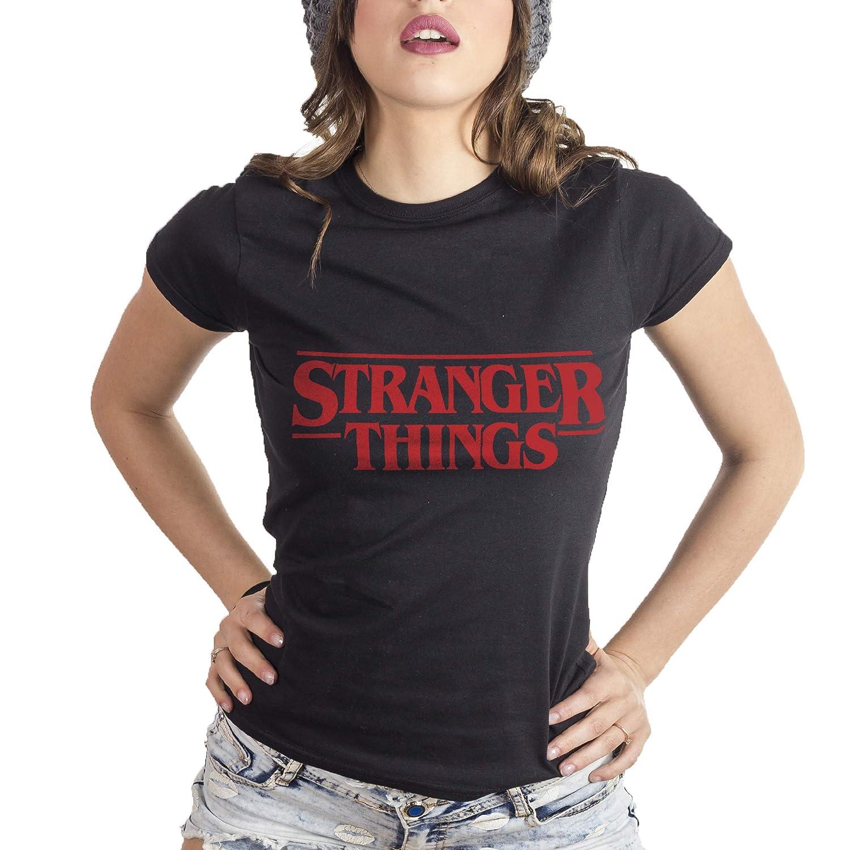 MUSH Eighteen Clothing Funny T-Shirt S Donna Stranger Things
