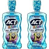 ACT Kids Anti-Cavity Mouthwash, Sponge Bob Squarepants, 16.9 oz. (Pack of 2)