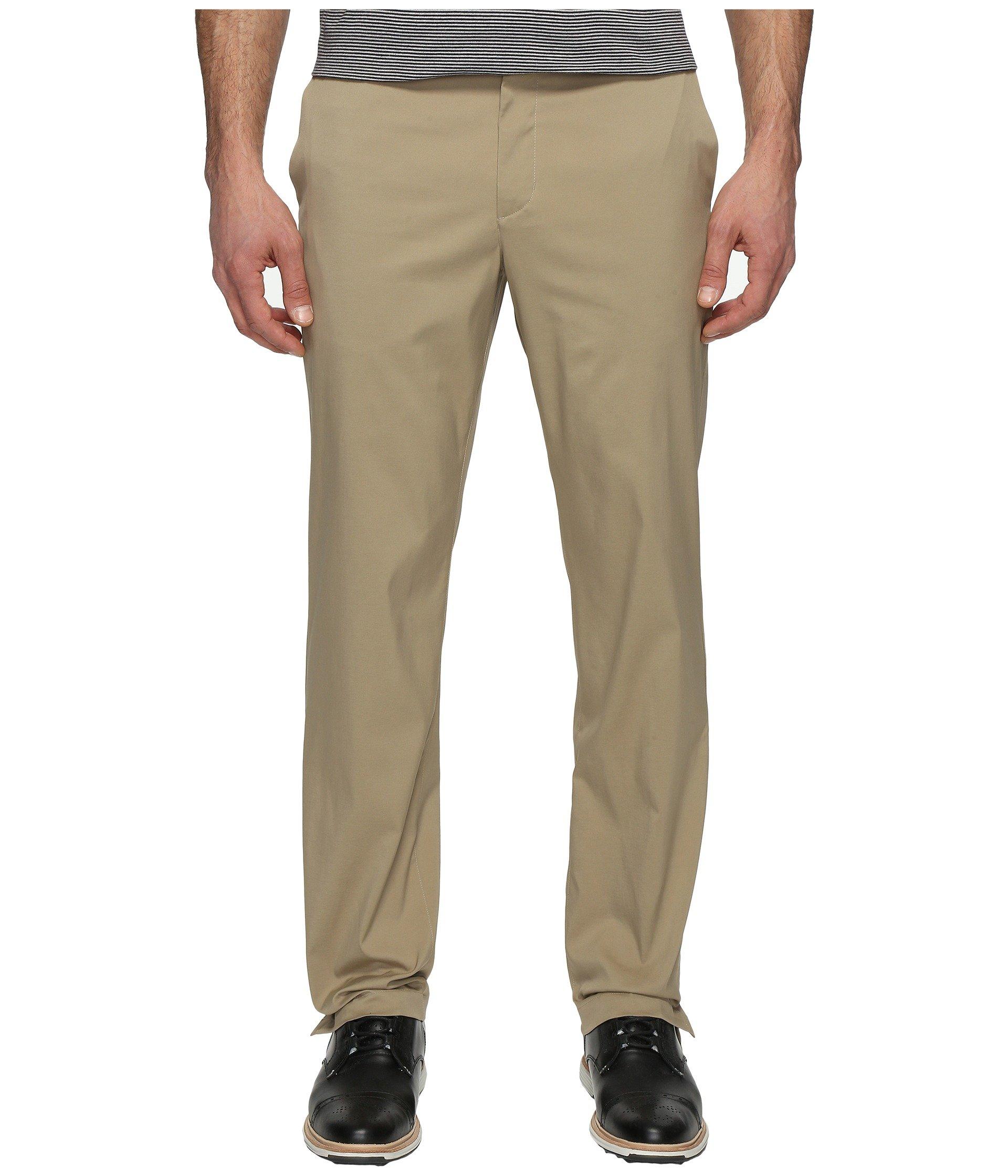 NIKE Men's Flat Front Golf Pants, Khaki/Khaki, Size 36/30