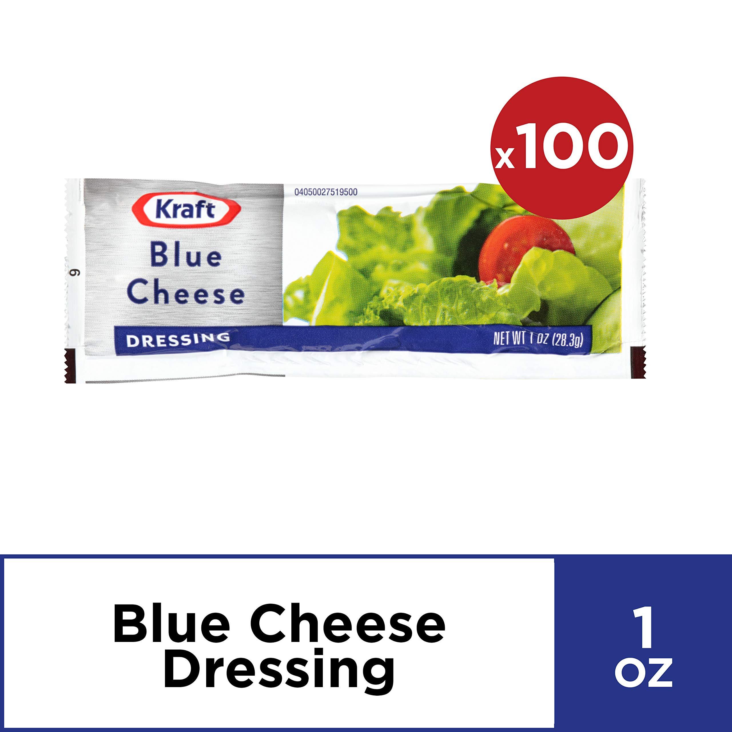 Kraft Blue Cheese Salad Dressing, 1-Ounce Packages (Pack of 100)
