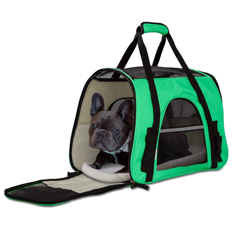 Amazon.com: OxGord Porta mascotas de lados acolchados para ...