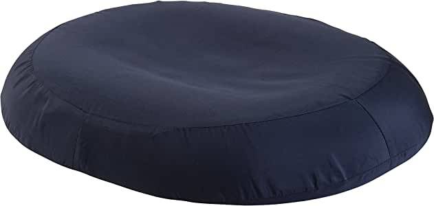 DMI Donut Pillow for Tailbone Pain, Hemorrhoids, Sciatica, Prostate, Pregnancy and Post Partum Includes Removable Cover, 18 Inches, Navy