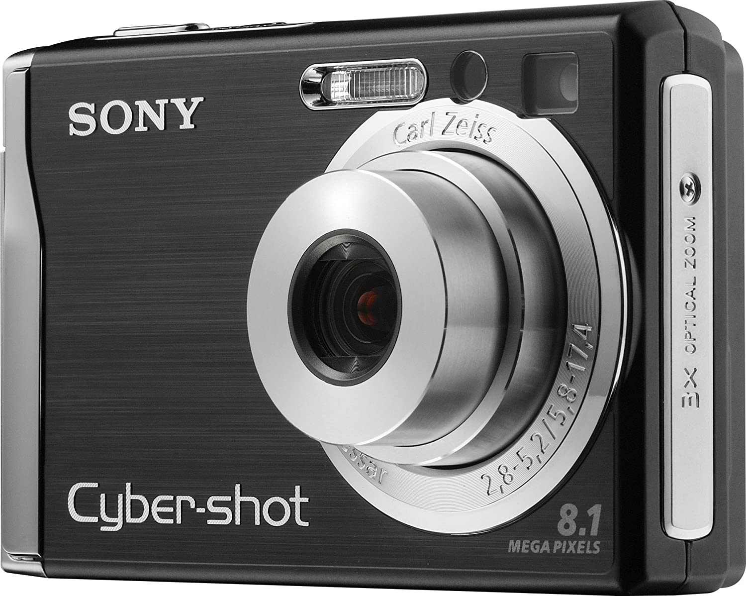 amazon com sony cybershot dscw90 8 1mp digital camera with 3x rh amazon com Sony Cyber-shot DSC-WX150 Cyber-shot Mic