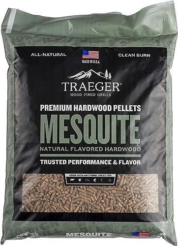 Traeger-Grills-PEL305-Mesquite-100%-All-Natural-Hardwood-Pellets-Grill