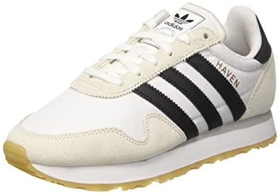 half off df193 7321b adidas Unisex-Kinder Haven J Sneaker Elfenbein core BlackFTWR White, 36 EU