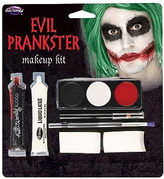 Halloween Evil Prankster Joker Make Up Kit With Latex Blood Makeup