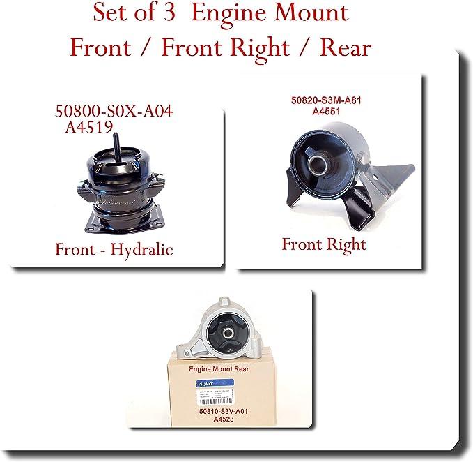 50820-S3M-A81 Engine Mount Right Fits:Aucra MDX 2003-2006 Honda Pilot 2005-2008