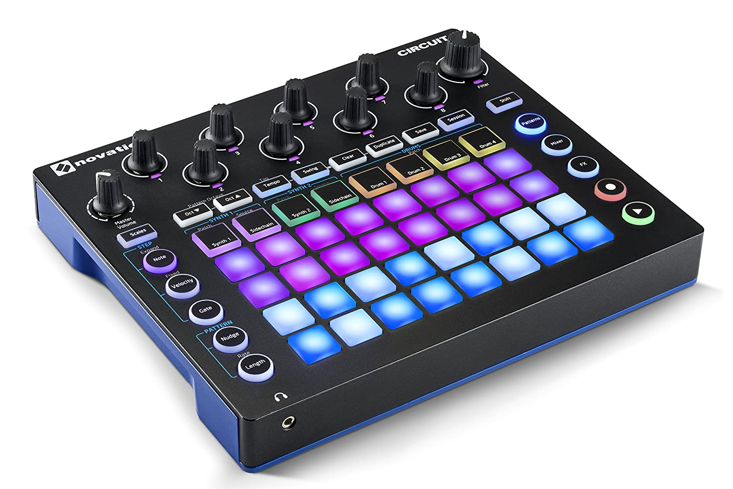 Novation Circuit Groove Box W Sample Import 2 Part Beginning Circuitry Build A Metronome Synth 4 Drum Machine And Sequencer Musical Instruments