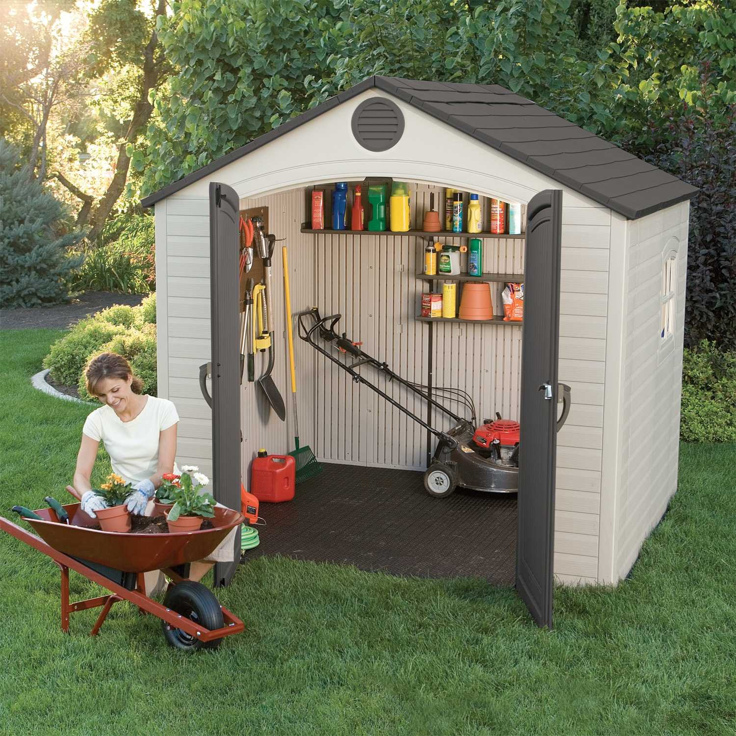 wooden sheds outdoor small large lockable storage shed