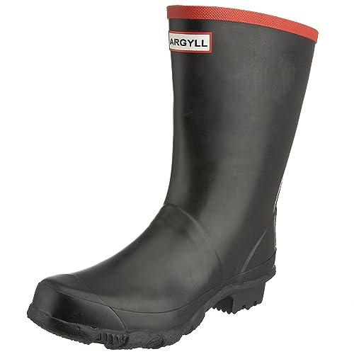 Hunter Men's Argyll Short Knee Wellies Black W23111 ...