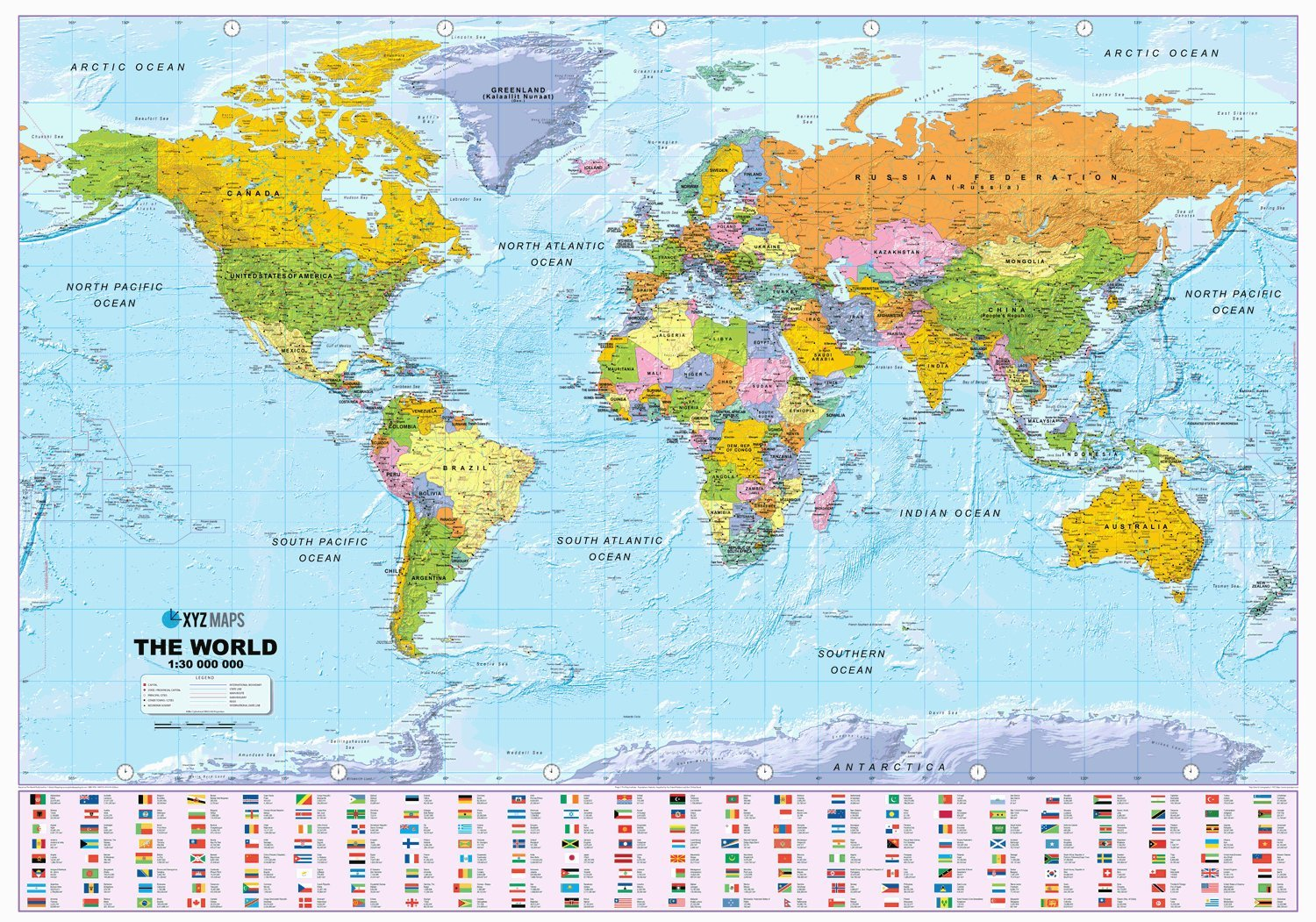 scale map of world Buy Scottish World Map Political 1 30m Scale Plastic Coated Wall Map Book Online At Low Prices In India Scottish World Map Political 1 30m Scale Plastic Coated Wall Map Reviews