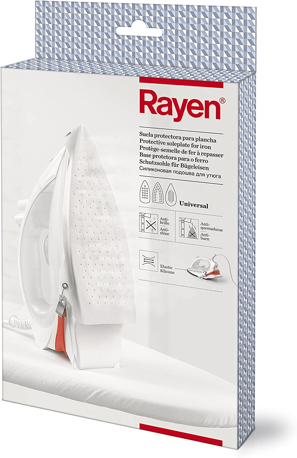 Rayen 6205 Iron Soleplate Suitable for All Steam Irons with Silicone Fastening