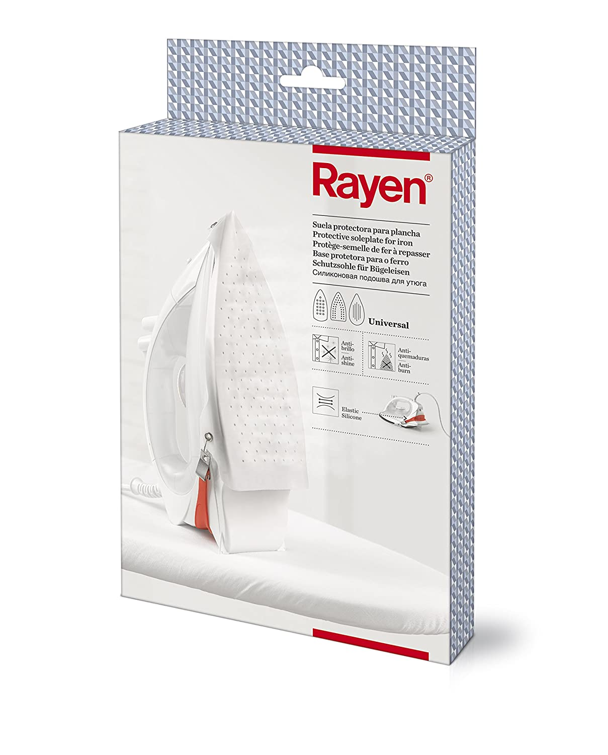 Rayen 6205.01 - Suela protectora para plancha, color blanco: Amazon.es: Belleza