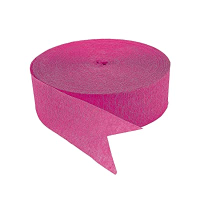 HOT PINK JUMBO STREAMERS - Party Decor - 1 Piece: Toys & Games