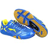 Li-Ning Saga X Badminton Shoes (Blue/Lime)