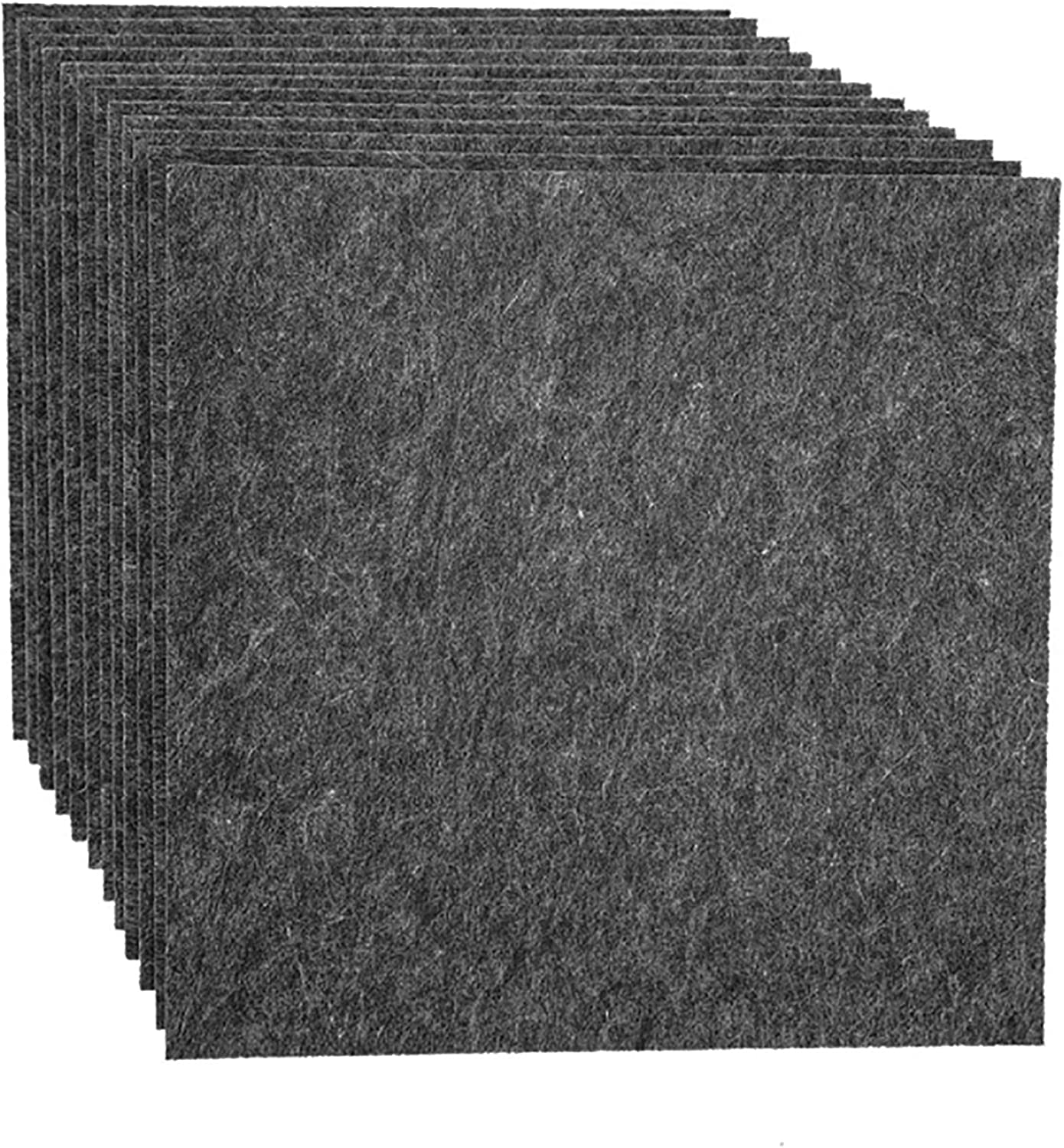 12 Pack Set Acoustic Absorption Panel, 12 X 12 X 0.4 Inches Dark Grey Acoustic Soundproofing Insulation Panel Tiles, Acoustic Treatment Used in Home & Offices