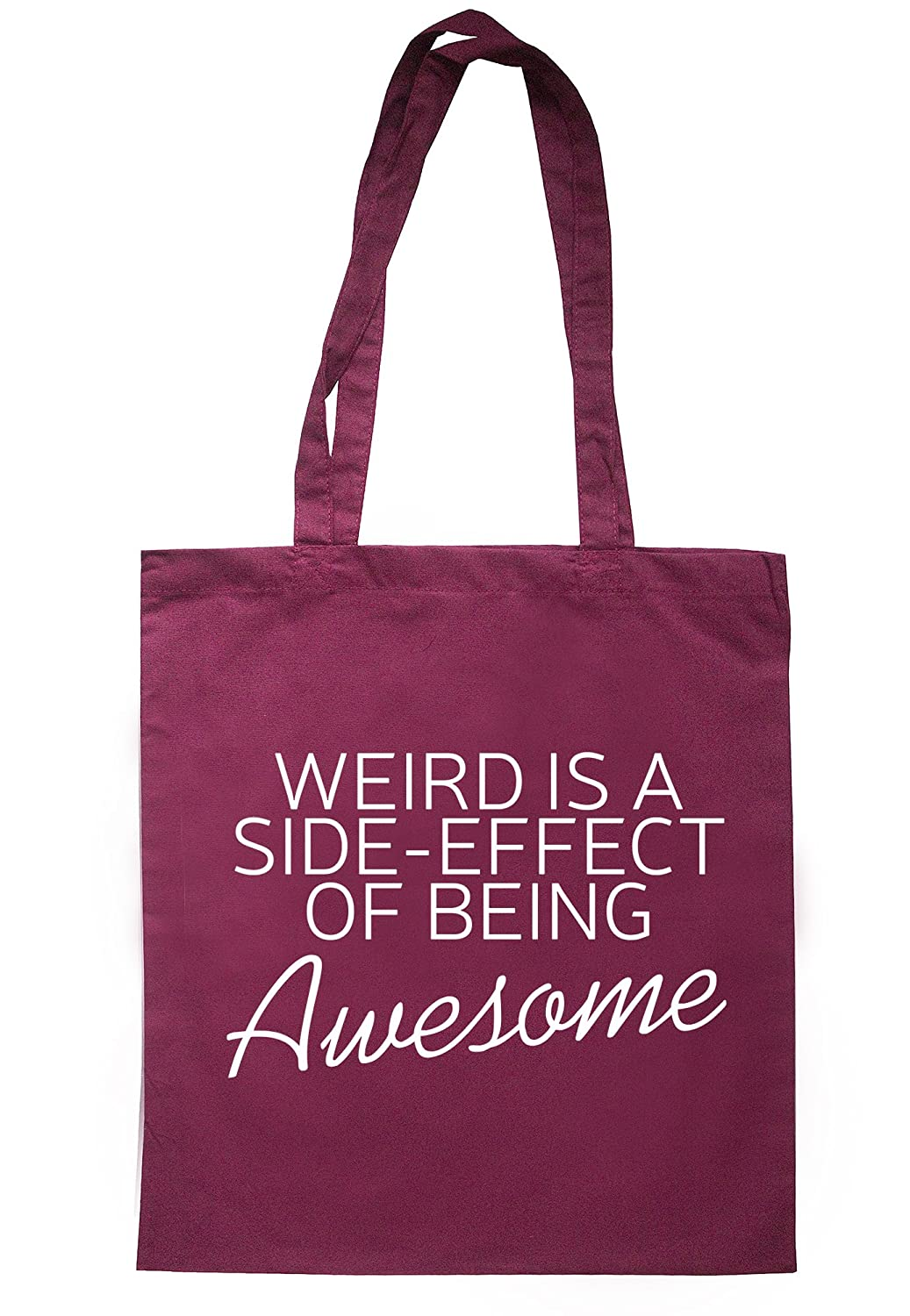illustratedidentity Weird Is A Side Effect Of Awesome Tote Bag 37.5cm x 42cm with long handles TB1473-TB-NV