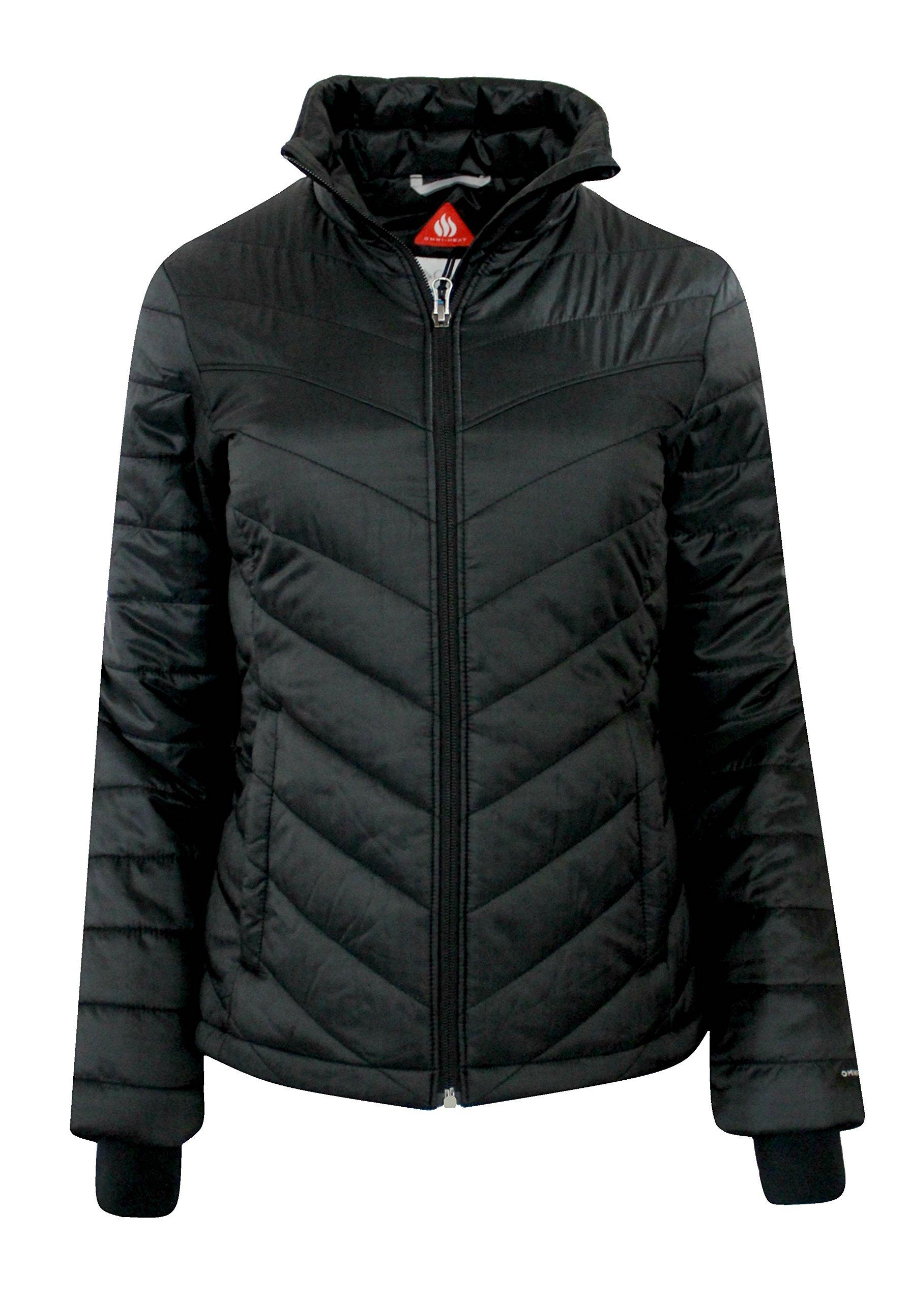 Columbia Women's Morning Light II Insulated Omni-Heat Jacket, BLACK (LARGE)