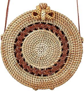 Onemoret Satchel Wind Bohemia Beach Circle bag Bali Island intrecciato a mano borsa rotondo in rattan paglia borse