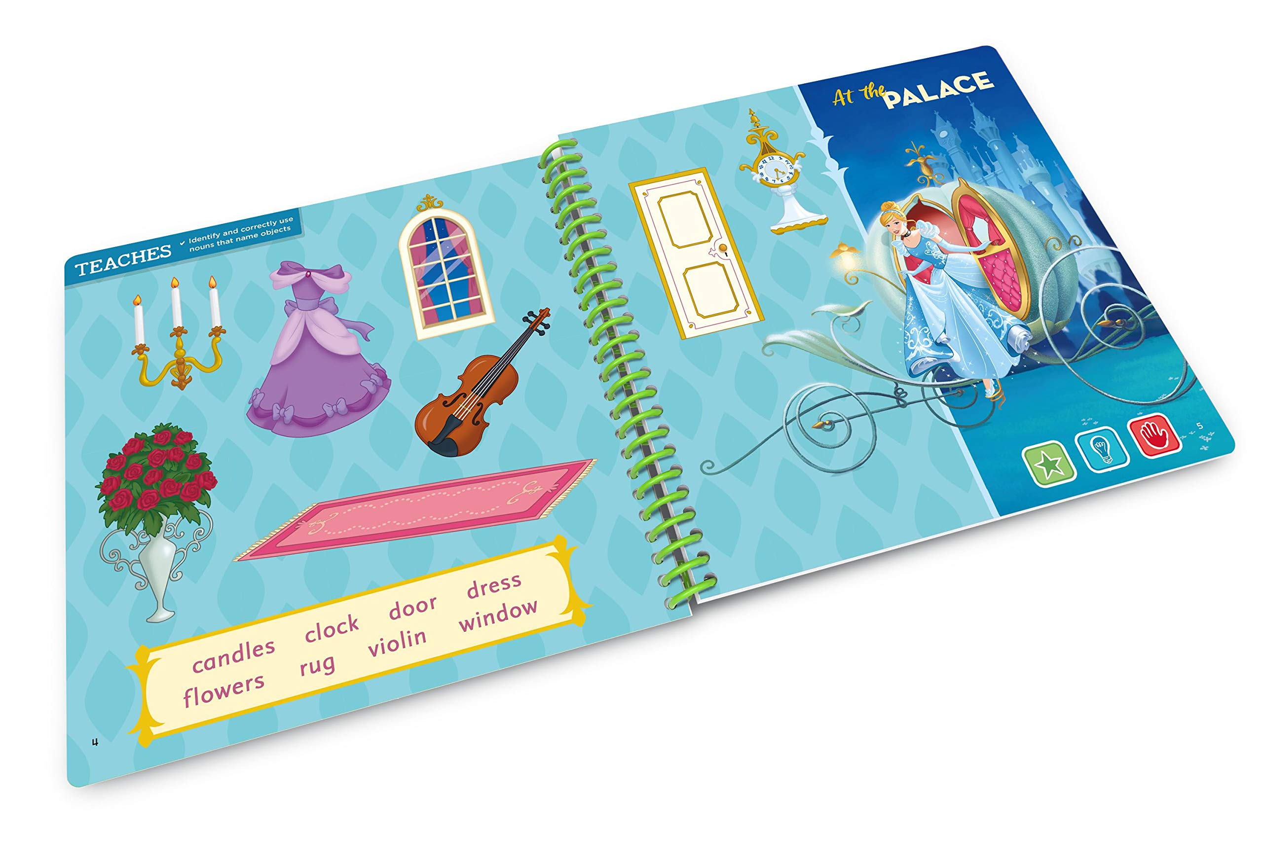 Leapstart Preschool: Disney Princess Shine with Vocabulary Activity Book (3D Enhanced) by LeapFrog (Image #4)