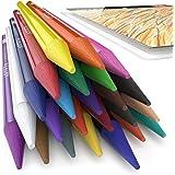 Arteza Woodless Colored Pencils - 24-Colors - Soft-Core - Pre-sharpened (Set of 24)