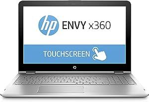 HP Envy x360 2-in-1 Laptop: 8th Generation Core i7-8550U, 15.6in Full HD Touch, 256GB SSD, 8GB RAM, Windows 10 (Renewed)