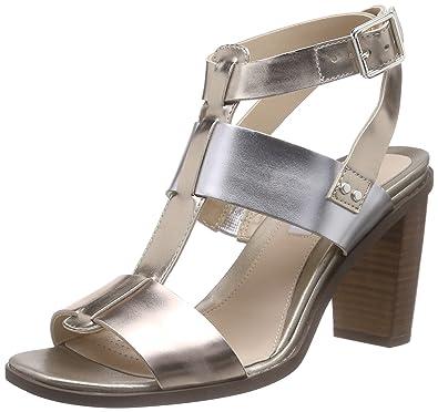 Clarks Image Crush, Women's Ankle Strap Sandals, Multicolor (Metallic Multi  Leather),