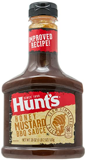 Amazon.com : Hunts Honey Mustard BBQ Sauce, 18 oz : Grocery & Gourmet Food