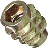 E-Z Lok Threaded Insert, Zinc, Hex-Flush, #10-24