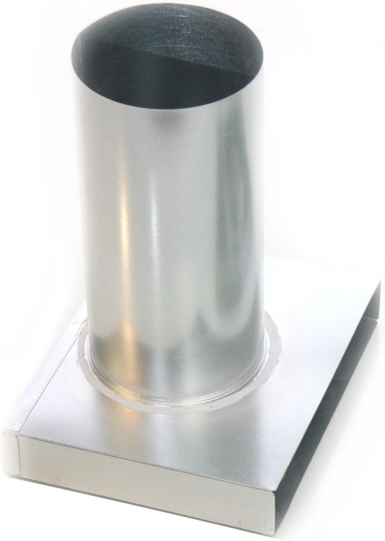 80 100 125 160 200 mm Flachkanal Umlenk-Anschlussst/ück 100 140 180 220 300 mm auf DN Anschluss f/ür Tellerventil Endst/ück mit langer Bundmuffe Breite B: 100 // DN: 80
