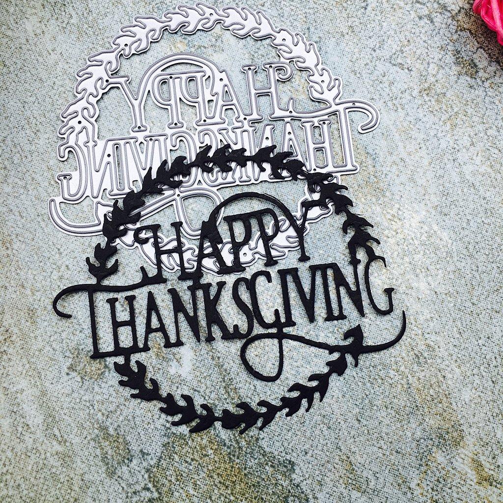 Susada Happy Thanksgiving Metal Steel Cutting Dies Stencils Embossing DIY Scrapbooking by Susada (Image #4)