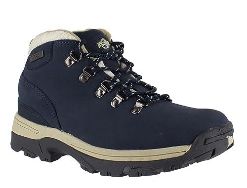 33ff5344d6b27 NorthWest Trek Womens WaterProof Leather Lace Up Walking Hiking Boots Blue  UK 3