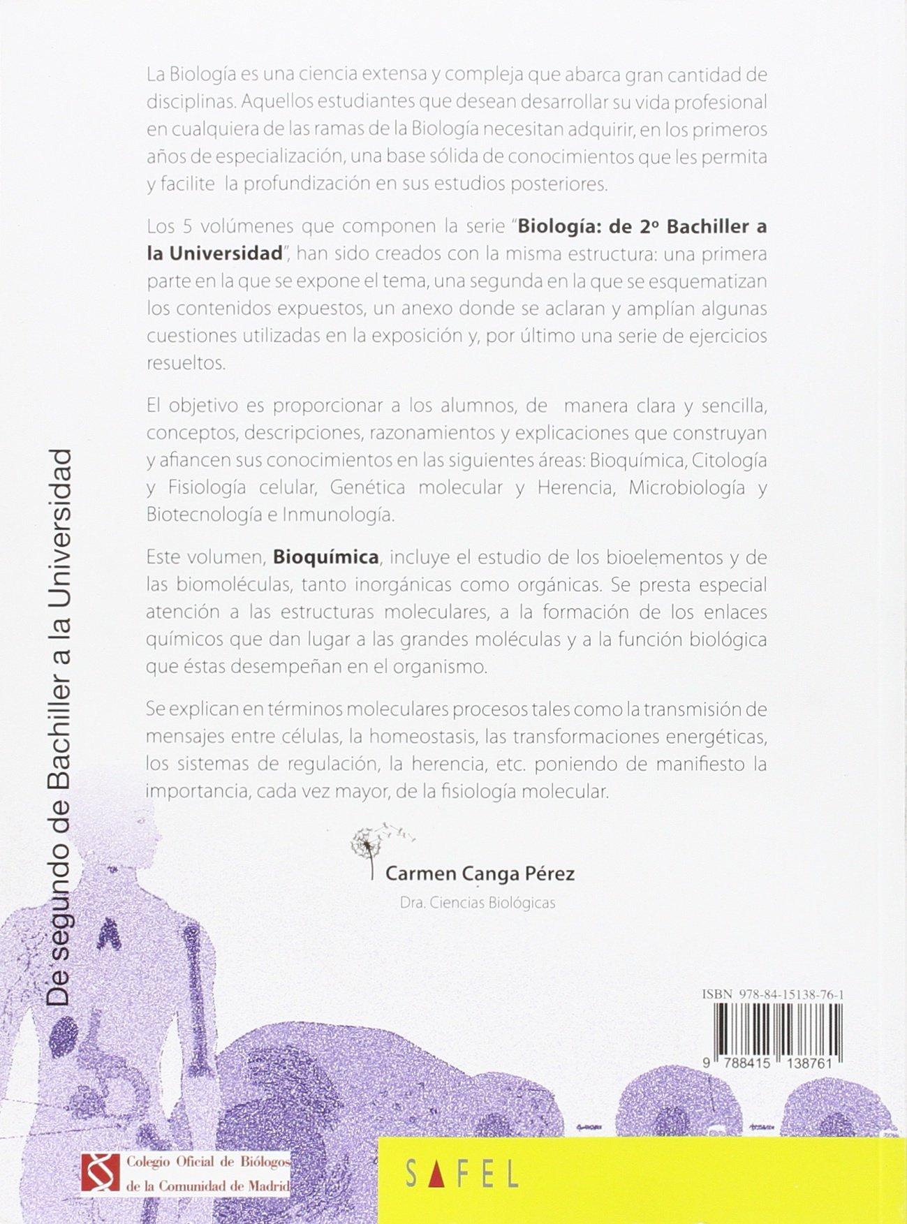 Cuaderno Bioquimica Esa 15 Safvar38es 9788415138761 Amazon