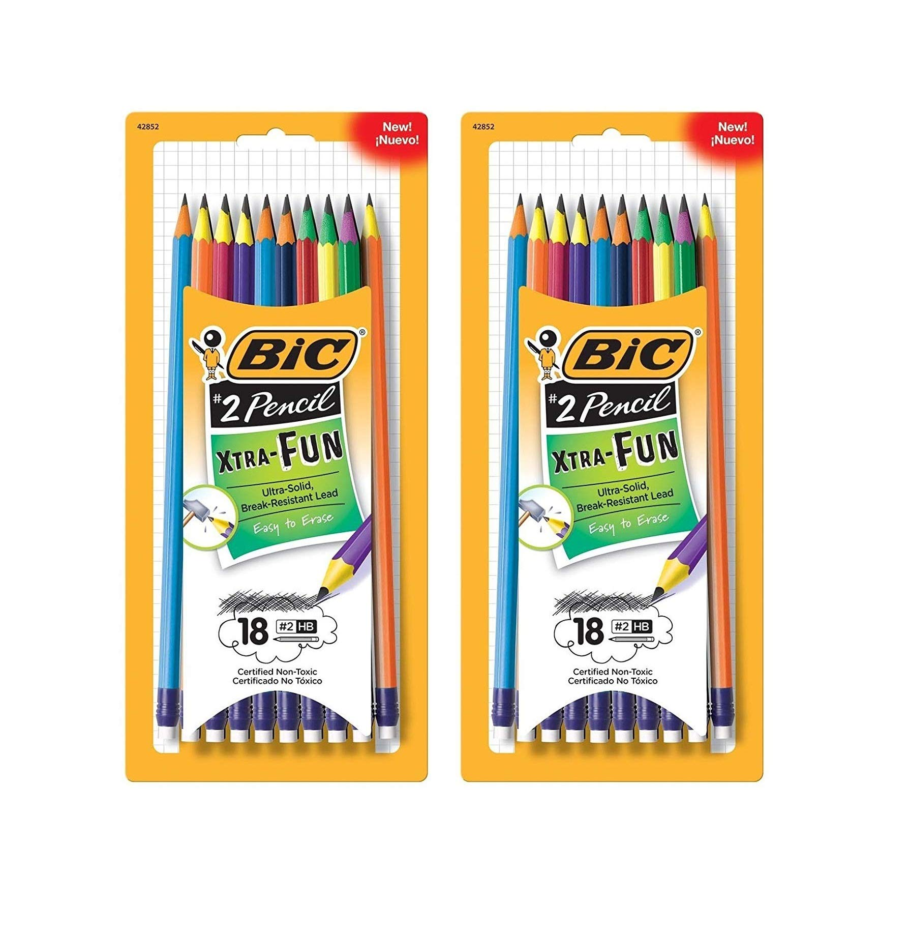 BIC Xtra-Fun Graphite Pencil, 2 HB, 36-Count by BIC