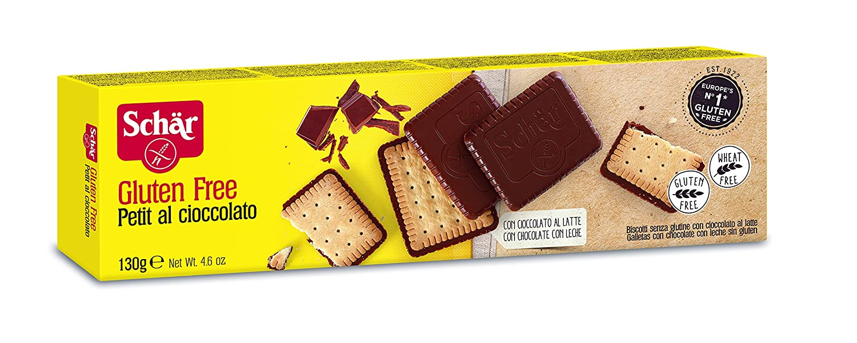 Dr. Schar Petit Al Cioccolato Galletas - Pack de 3 x 130 gr
