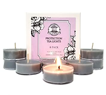 Amazon com: Art of the Root Protection Soy Tea Lights Candles (8