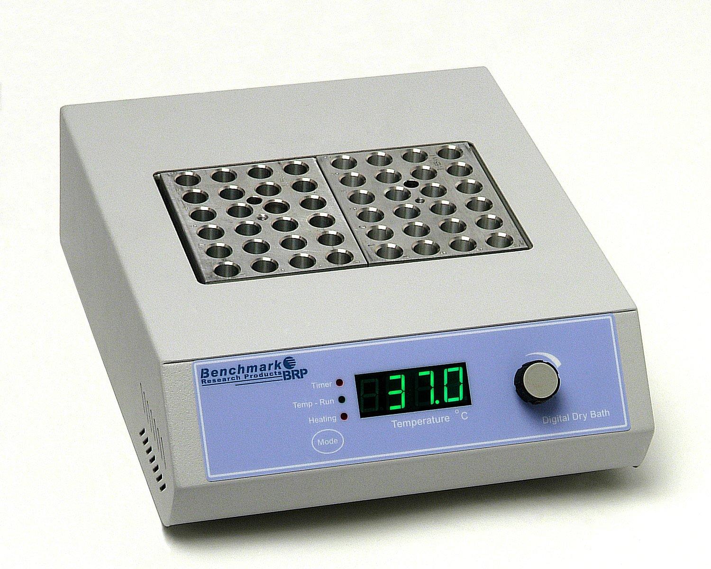 Benchmark Scientific BSH1002 Double Position Digital Dry Bath Incubator, 20 Width x 8 Height x 23 Depth cm, 115VAC, +5 to 150 Degree C by Benchmark Scientific