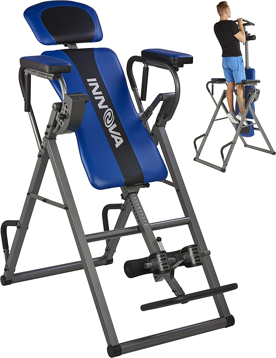 Innova Health and Fitness ITP1000 12-in-1 Inversion Table with Power Tower Workout Station